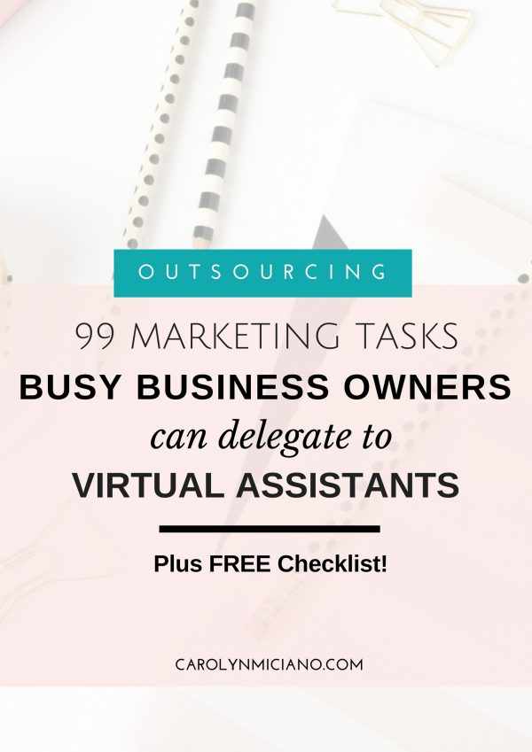 Marketing tasks for virtual assistants, 99 marketing tasks