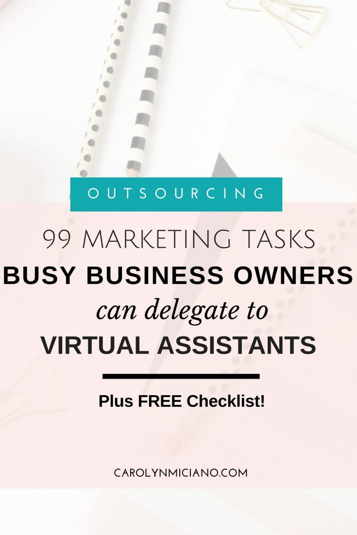 99 Marketing tasks for virtual assistants, 99 marketing tasks, business owners
