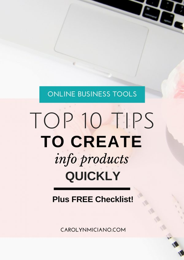 You can make an info product much more quickly by following these top-10 tips!