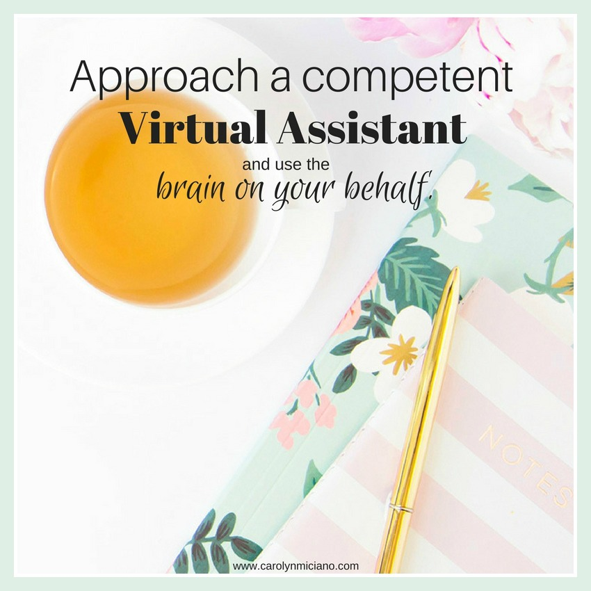 Approach a competent Virtual Assistant and use the brain on your behalf