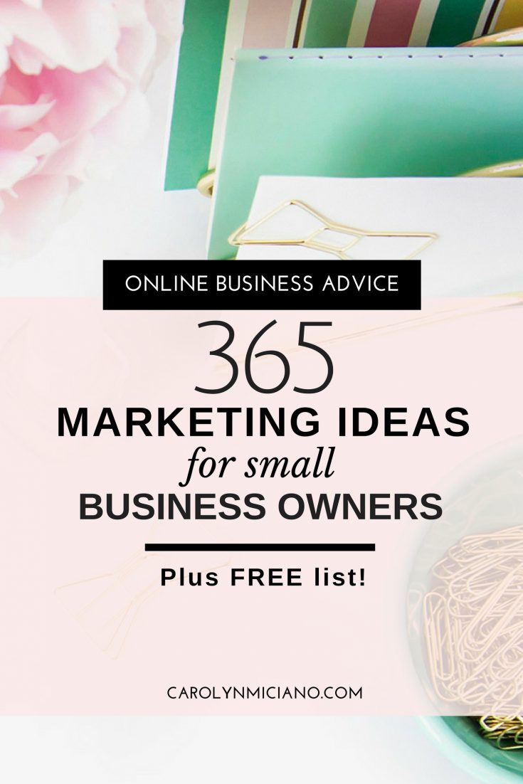 Grab this FREE list of inexpensive marketing ideas for small business owners which you can utilize for the whole year round!