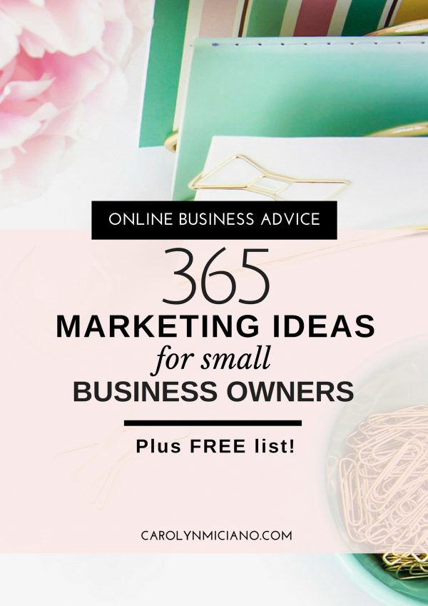 365 Marketing Ideas For Small Business
